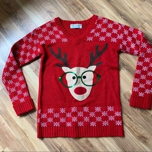 Ugly Christmas sweater with reindeer size S